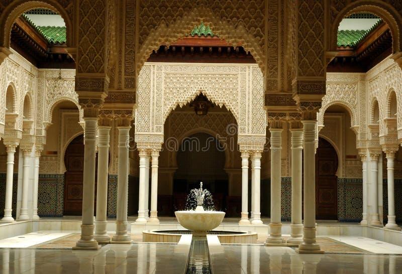 Interior marroquino da arquitetura foto de stock