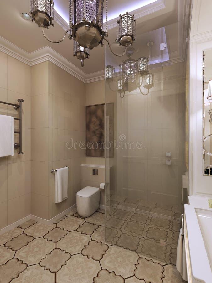 Interior marroquino do banheiro imagem de stock