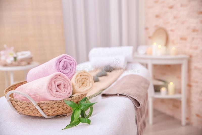 Interior of massage room stock photography