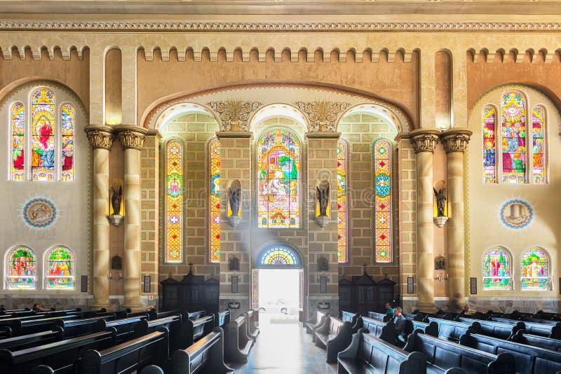 Interior of The Matriz Church, Igreja do Santissimo Sacramento i stock image