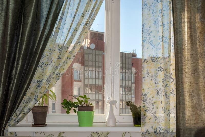 Interior med fönstret royaltyfria bilder
