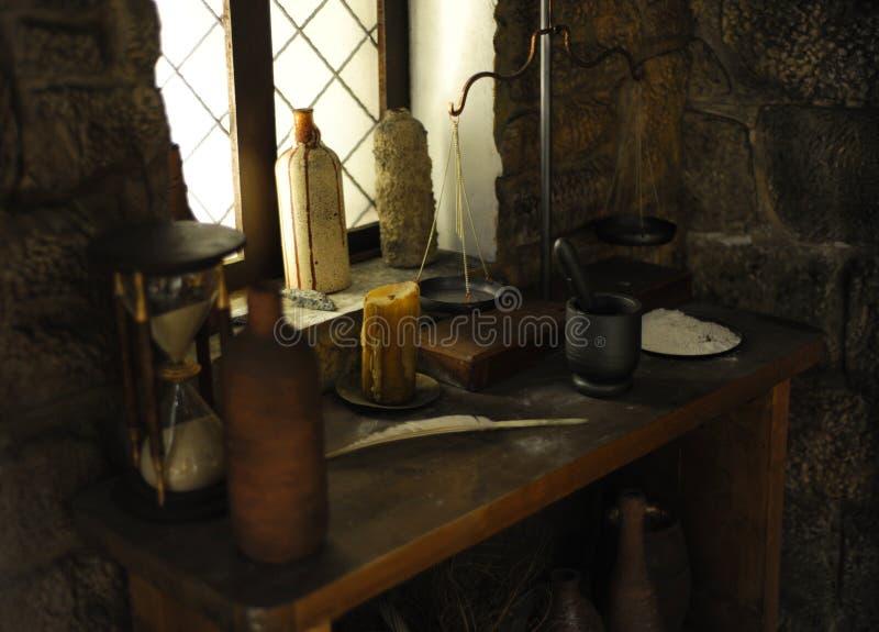 Interior medieval fotos de stock royalty free
