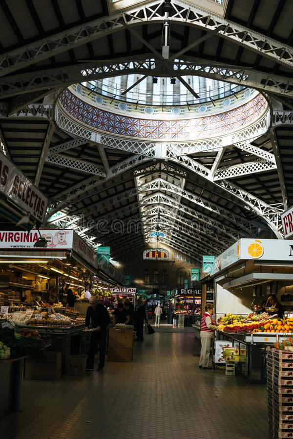 Download Interior Of The Mercado Central In Valencia Editorial Image - Image: 83723580