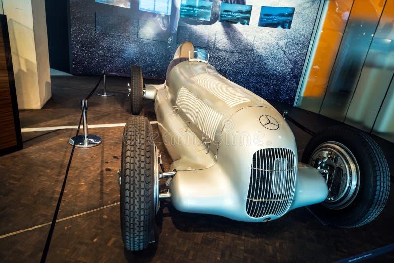 Interior of the Mercedes Benz Museum in Stuttgart. stock photography