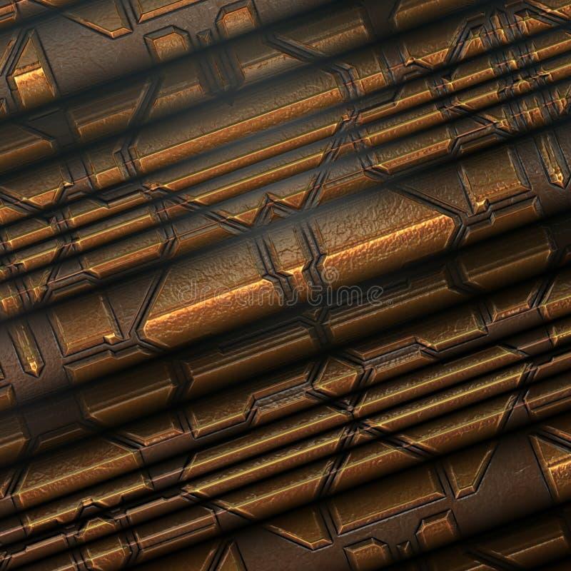 Interior metálico da textura/fundo ilustração stock