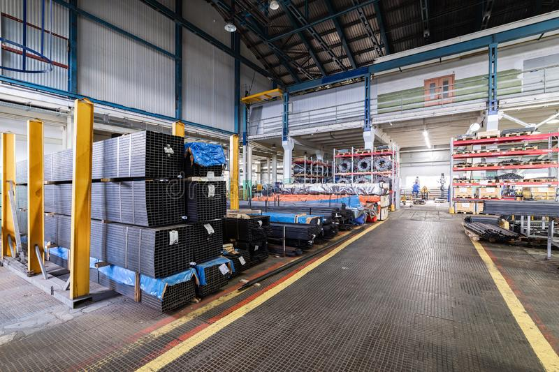 The interior of the metalworking shop. Modern industrial enterprise. royalty free stock photo