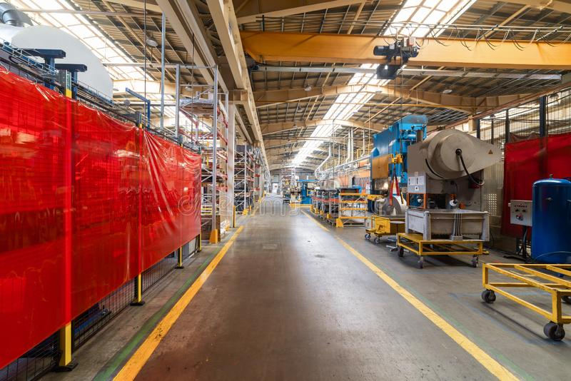 The interior of the metalworking shop. Modern industrial enterprise. royalty free stock image