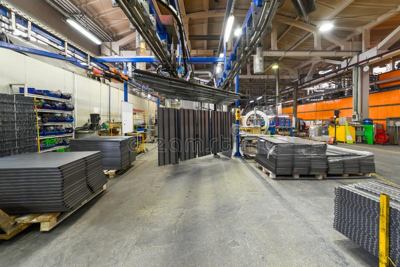 The interior of the metalworking shop. royalty free stock photography