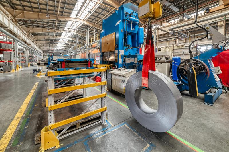 The interior of the metalworking shop. Modern industrial enterprise. stock images