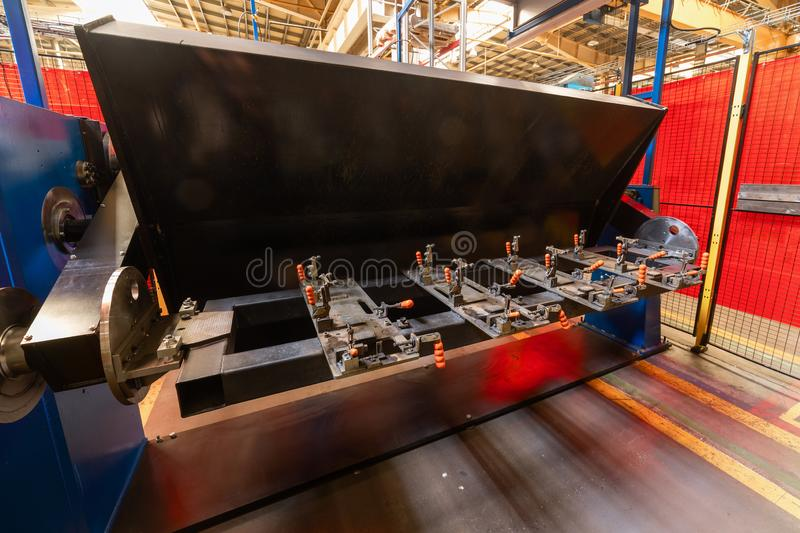 The interior of the metalworking shop. Modern industrial factory. stock photography