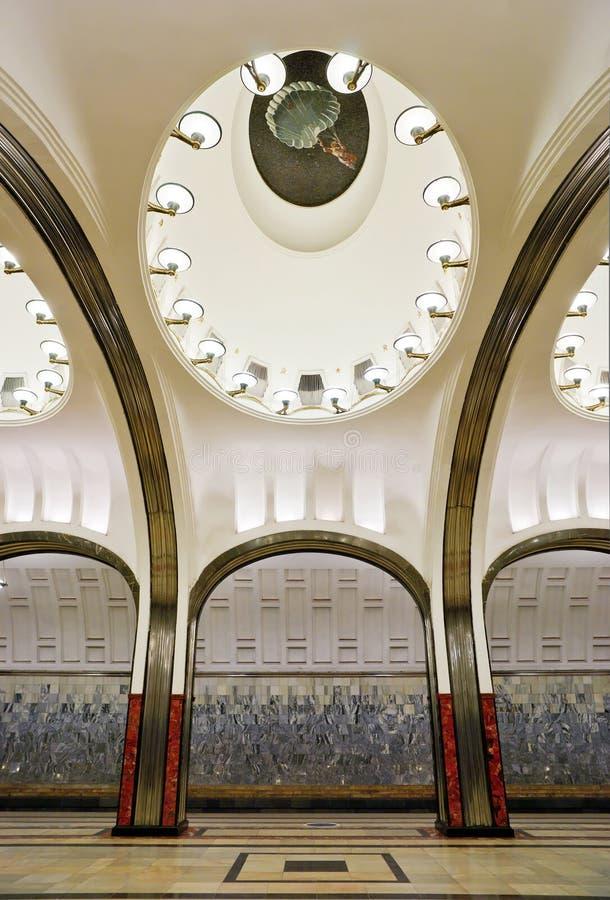 Download Interior Of Metro Station Mayakovskaya In Moscow Editorial Stock Photo - Image: 25231523