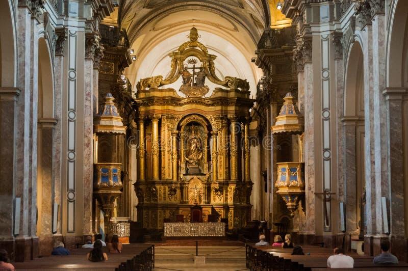 Interior metropolitano da catedral de Buenos Aires fotos de stock royalty free