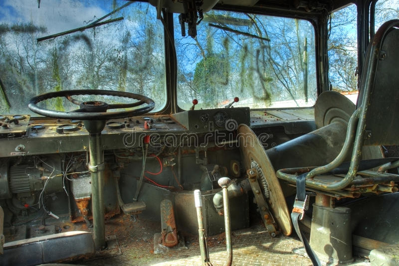 interior of military vehicle stock photo image of derelict europe 35404904. Black Bedroom Furniture Sets. Home Design Ideas
