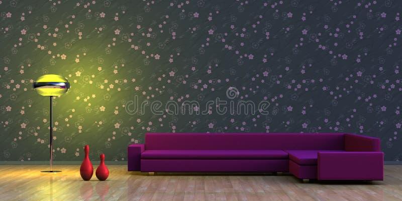 Interior minimalista stock de ilustración