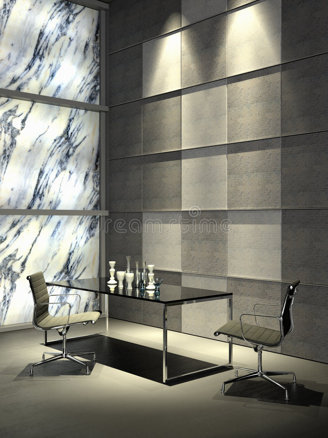 Interior minimalista magnífico imágenes de archivo libres de regalías
