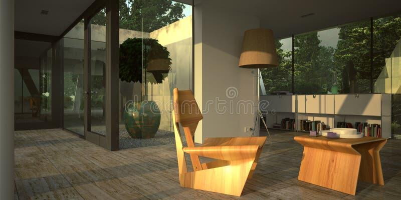 Interior minimalista moderno stock de ilustración