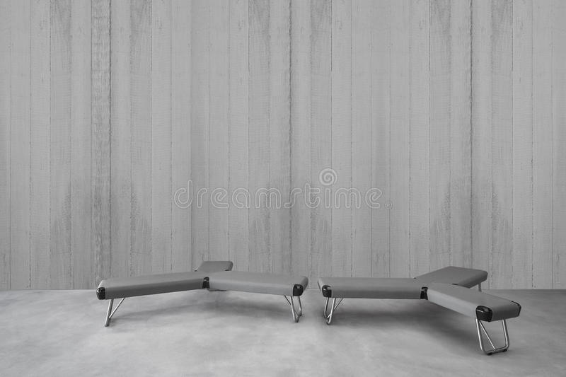 Interior minimalista moderno com assento imagem de stock