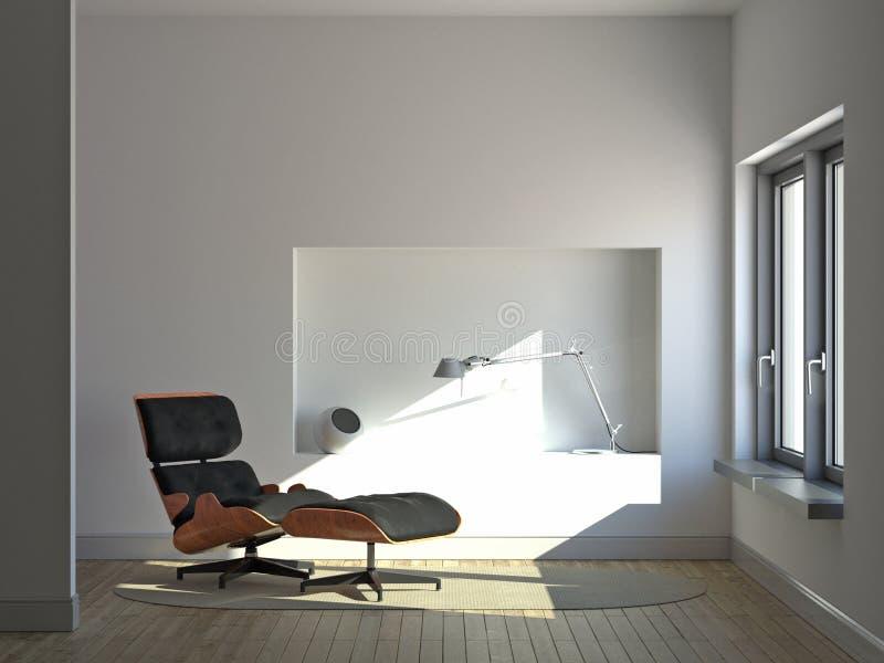 Interior minimalista reservado libre illustration