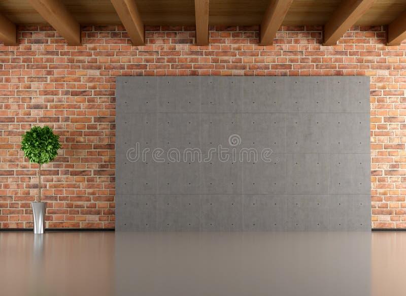 Interior minimalista vazio ilustração royalty free