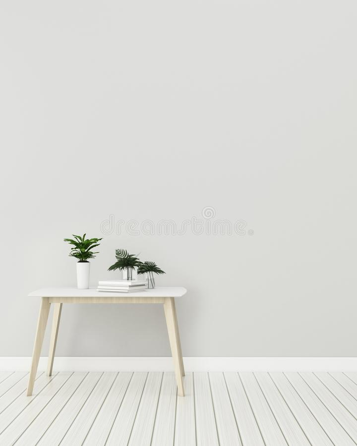 Interior  mock up with  wooden table in the living room. modern interior design. stock photos