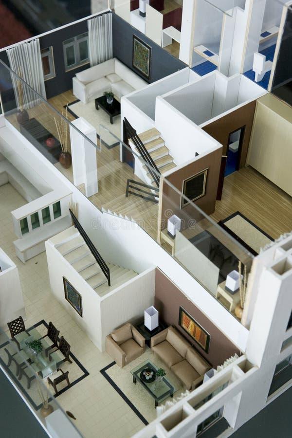 Interior modelo da casa fotos de stock