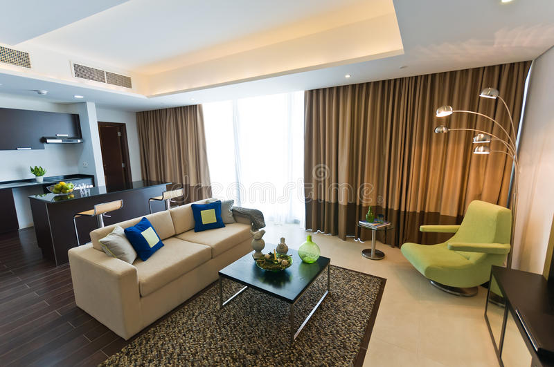 Interior of modern apartment stock photography