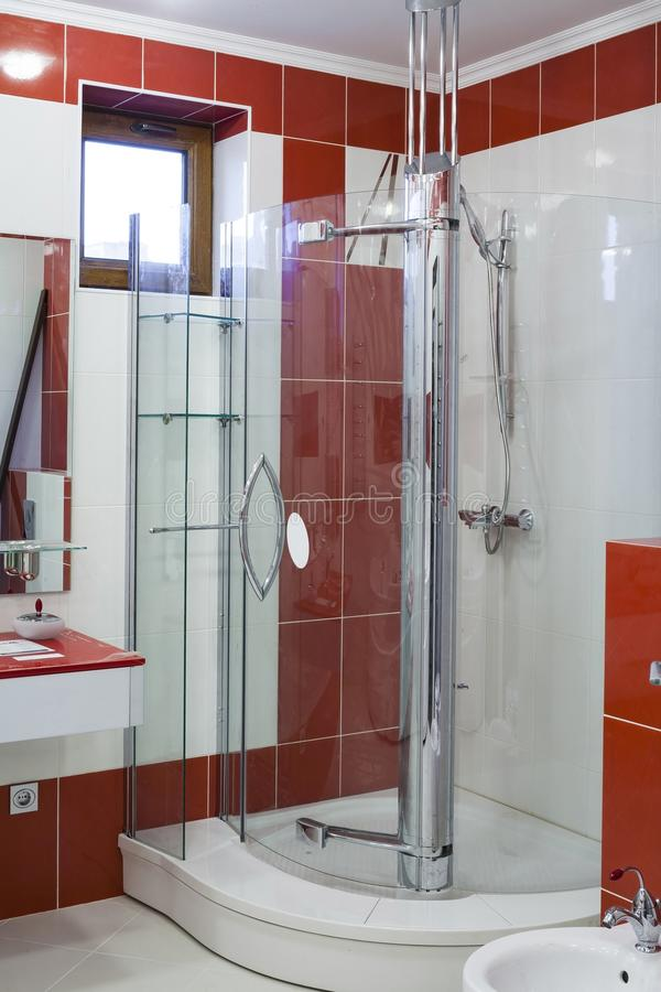 Interior of a modern bathroom. royalty free stock images