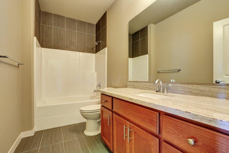 Interior of modern bathroom. Vanity with marble stock photos