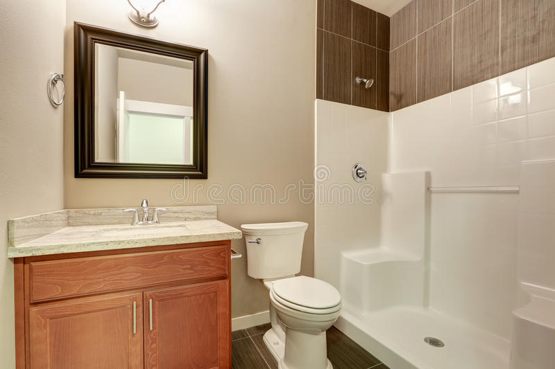 Interior of modern bathroom. Vanity with marble royalty free stock photos
