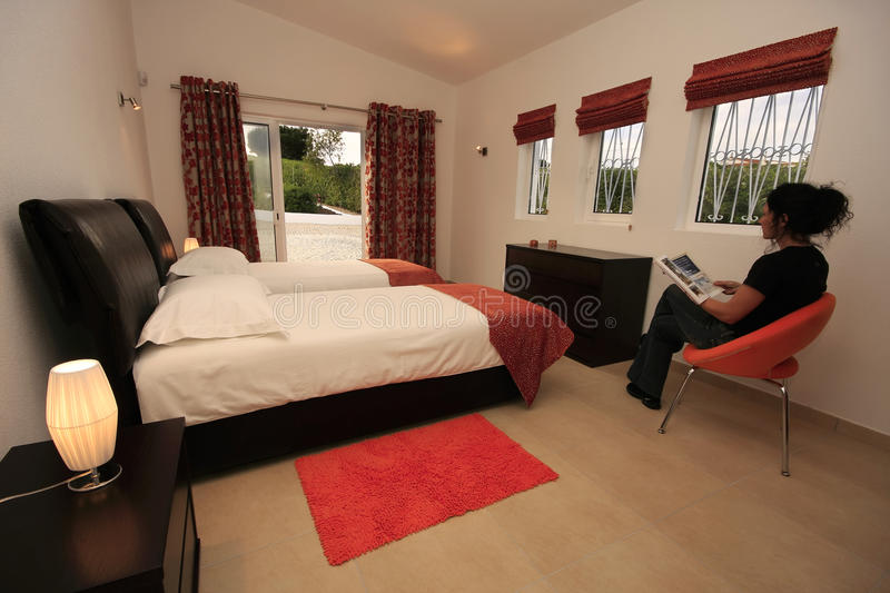 Download Interior Of A Modern Bedroom Stock Image - Image: 12879071