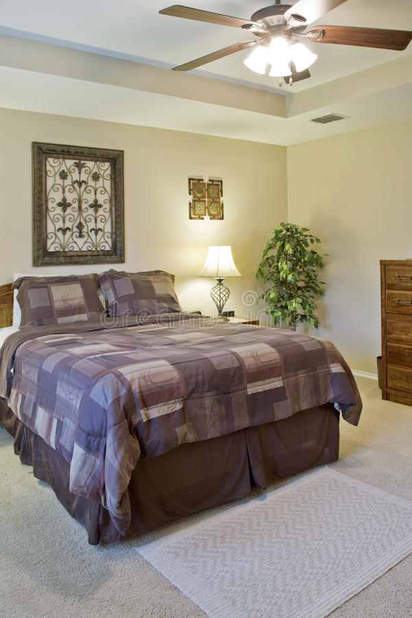 Interior of a modern bedroom stock image