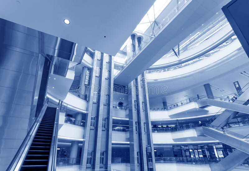 Interior of modern building. Interior of the shanghai pudong airport,modern indoors blackground royalty free stock photo