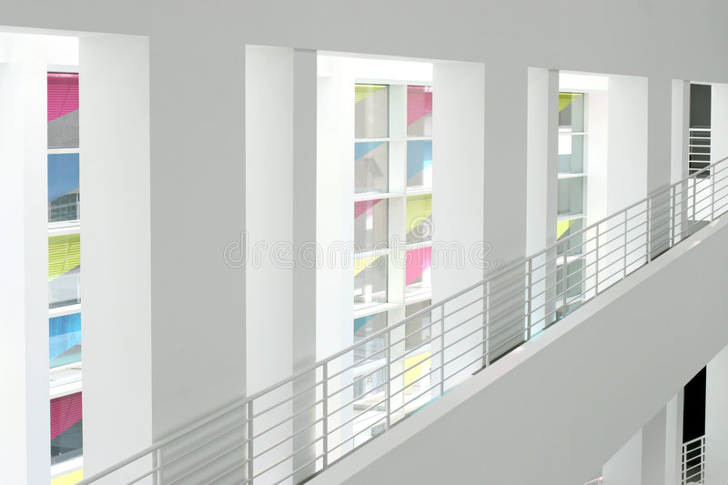 Interior of a modern building royalty free stock images