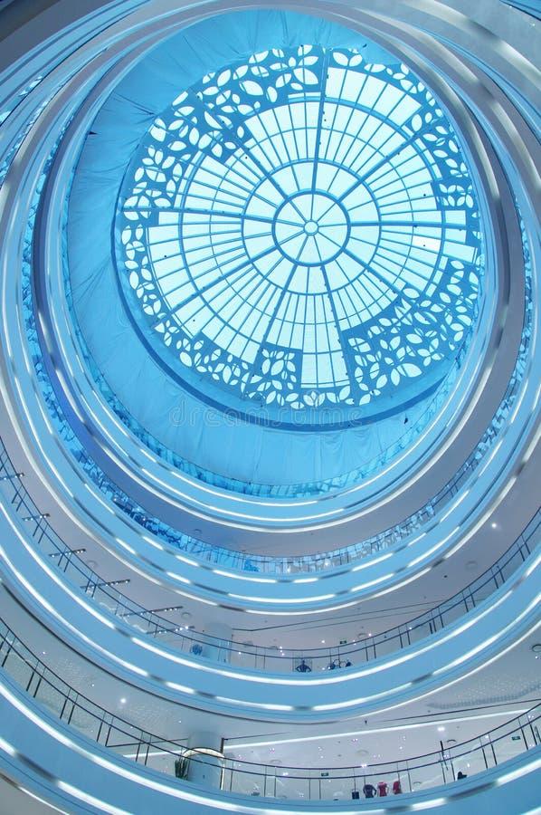 Interior of modern building stock image