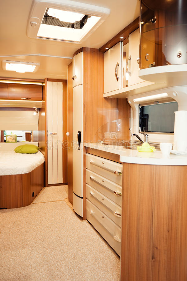 Download Interior of Modern Camper stock photo. Image of mobile - 32536490