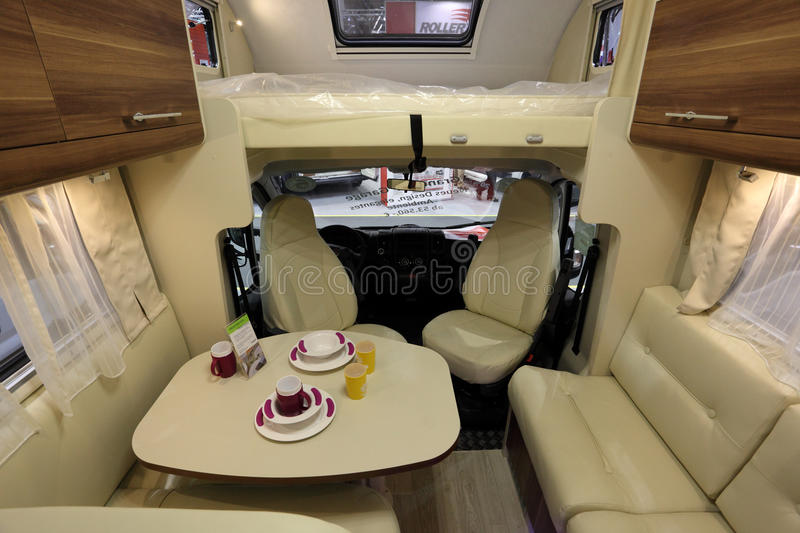 Interior Of A Modern Camper Van Editorial Photography