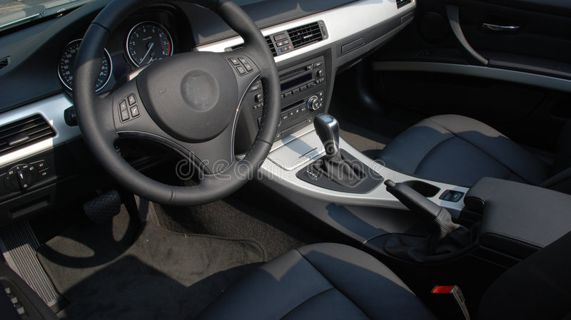 The Interior Of A Modern Car Stock Photos