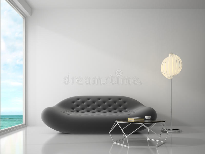 Interior of modern design room 3D rendering royalty free stock images