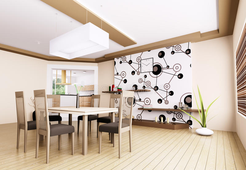 Download Interior Of Modern Dining Room Stock Illustration - Image: 33334385