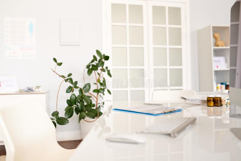 Interior of Modern Doctors Office stock image