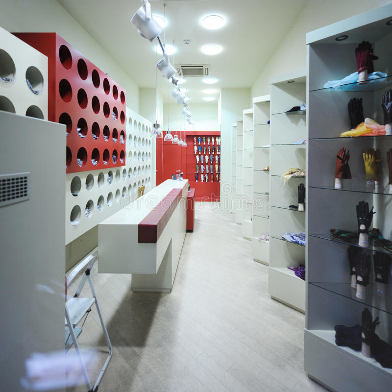Interior Of A Modern Fashion Store Stock Photos