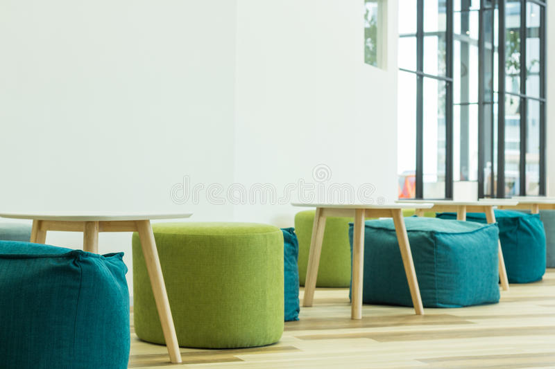 Interior modern furniture decoration stock photography