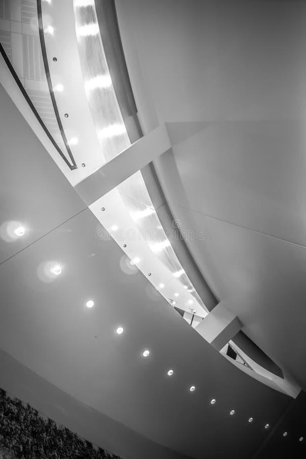 Interior of modern high tech building stock photo