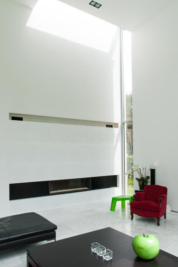 Interior modern house royalty free stock images