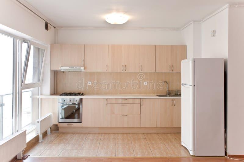 Interior of modern kitchen. Modern open-space kitchen in a new apartment