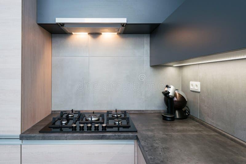 Interior of modern kitchen. Elegant and comfortable kitchen interior stock photo