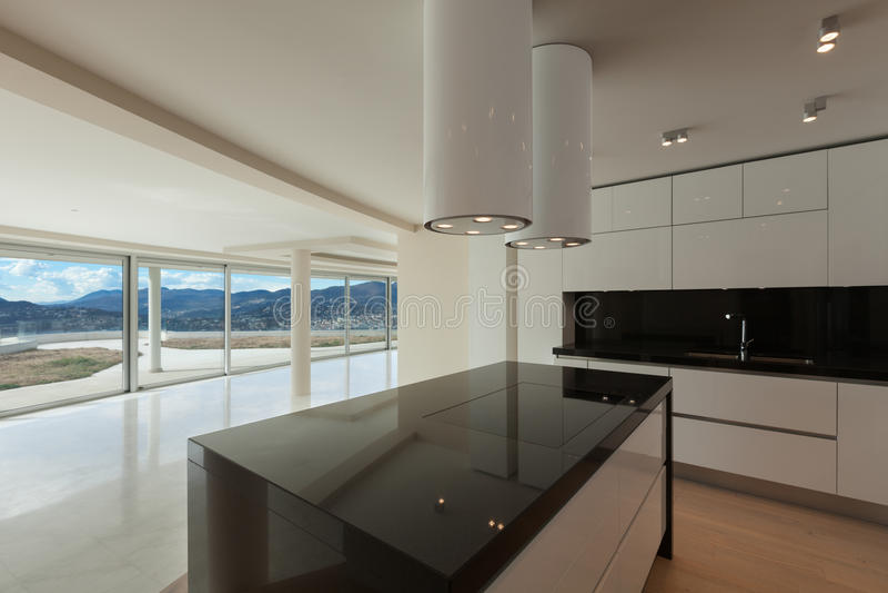 Interior, modern kitchen royalty free stock photography