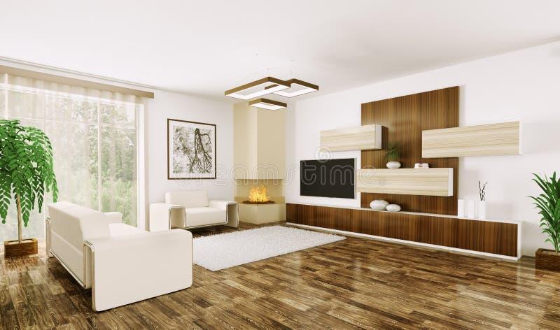 Download Interior Of Modern Living Room 3d Stock Illustration - Image: 34605060