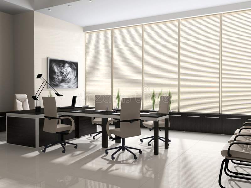 Download Interior of modern office stock illustration. Image of glass - 5647191