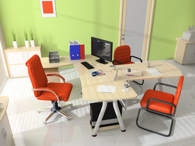 Interior of modern office. Modern interior with furniture for office stock photography